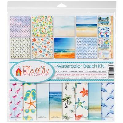 Watercolor Beach Kit