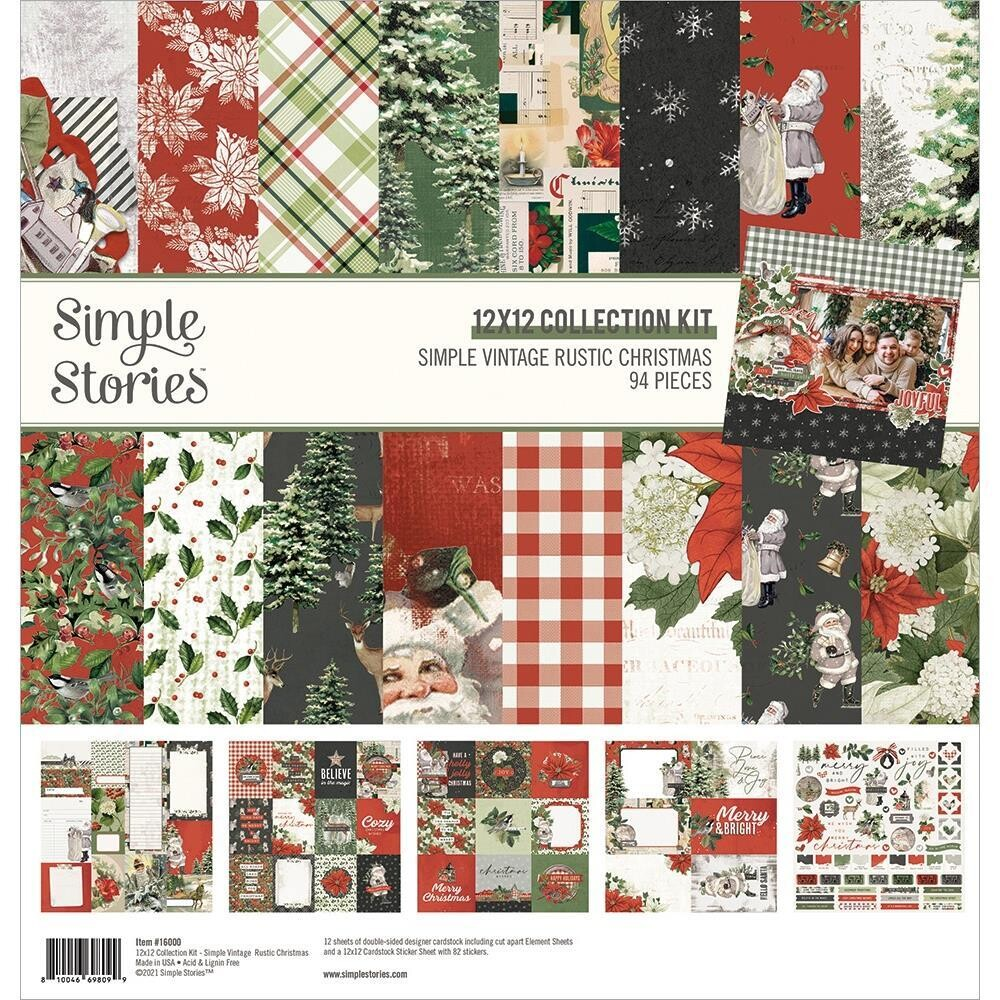 Two Page Layout using the Rustic Christmas Collection