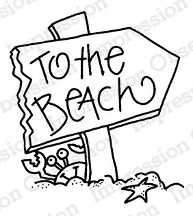 To the Beach Cling Stamp
