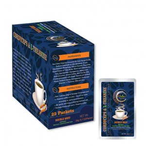 Double Shot Instant Toffee Cappuccino Mix Box 25 Pouches