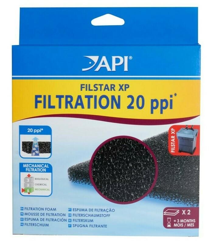 API Filstar Coarse Filtration Foam 20 PPI Black 1ea/2 pk