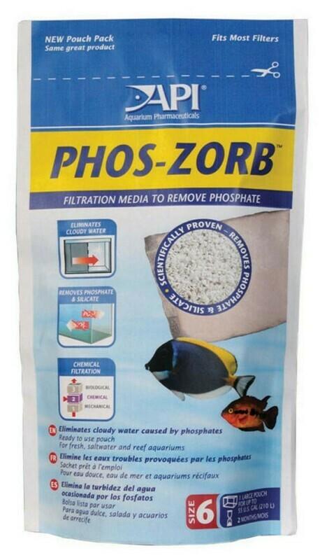 API PHOS-ZORB Aquarium Filter Media 1ea/Size 6, 1 pk
