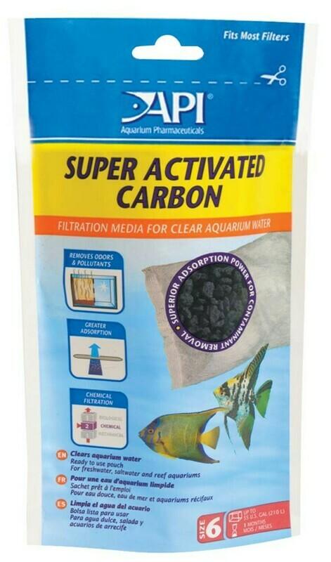 API Super Activated Carbon Filter Media 1ea/Size 6, 1 pk