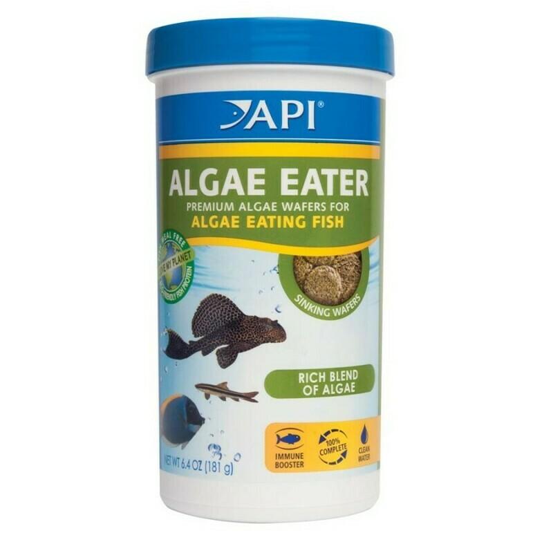 API Algae Eater Premium Sinking Wafer Fish Food 1ea/6.4 oz