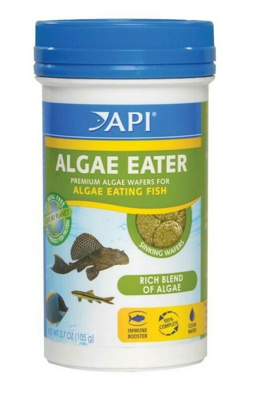 API Algae Eater Premium Sinking Wafer Fish Food 1ea/3.7 oz