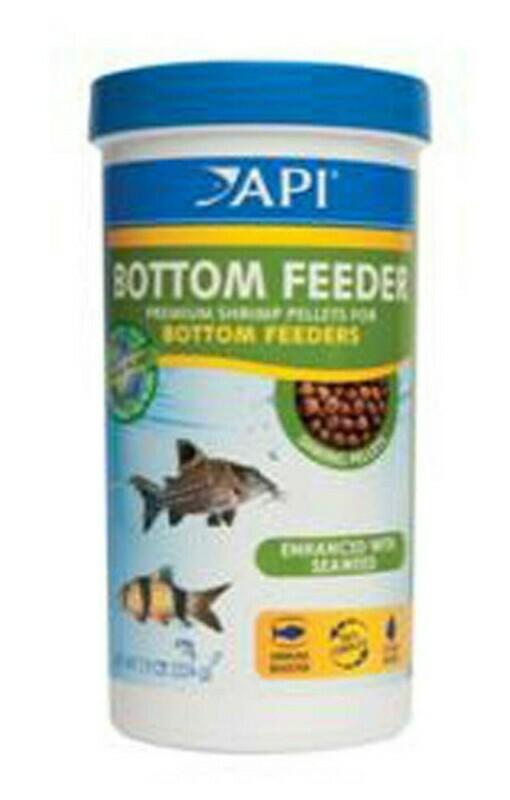 API Bottom Feeder Premium Shrimp Sinking Pellets Fish Food 1ea/7.9 oz
