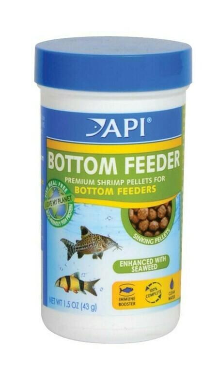 API Bottom Feeder Premium Shrimp Sinking Pellets Fish Food 1ea/1.5 oz