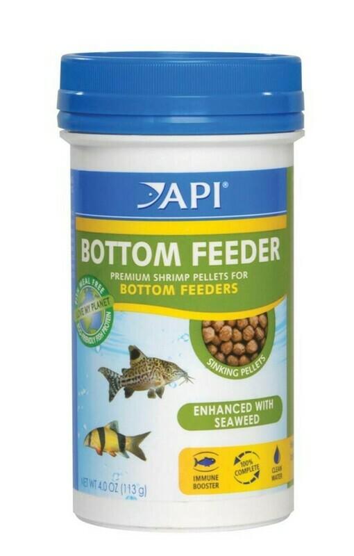 API Bottom Feeder Premium Shrimp Sinking Pellets Fish Food 1ea/4 oz