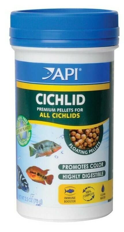 API Cichlid Premium Floating Pellets Fish Food 1ea/2.5 oz