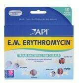 API E.M. Erythromycin Freshwater Fish Powder Medication 1ea/10 pk