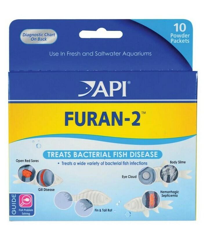 API Furan-2 Fresh and Saltwater Powder Medication 1ea/10 pk