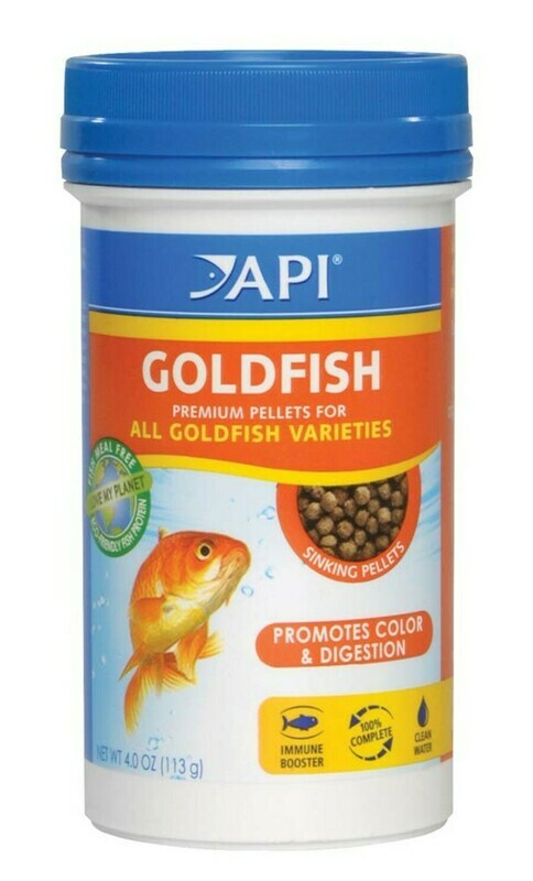 API Goldfish Premium Sinking Pellets Fish Food 1ea/4 oz