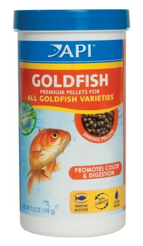 API Goldfish Premium Sinking Pellets Fish Food 1ea/7 oz