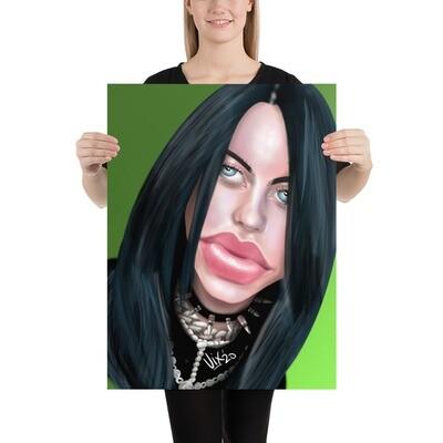 Billie Eilish Caricature - Premium Quality Poster Print