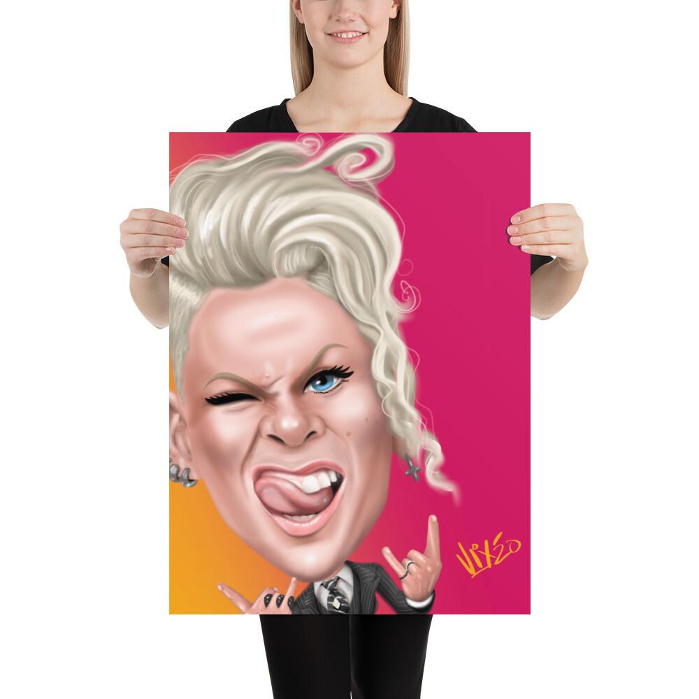 Pink / P!NK Caricature - Premium Quality Poster Print