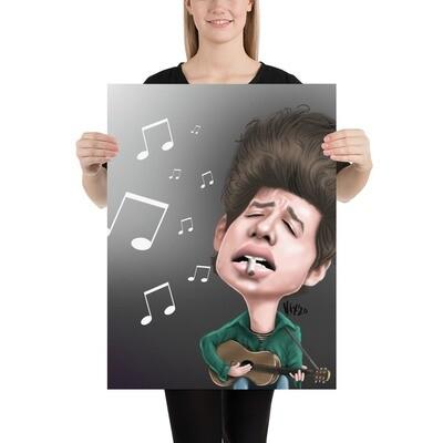Bob Dylan Caricature - Premium Quality Poster Print
