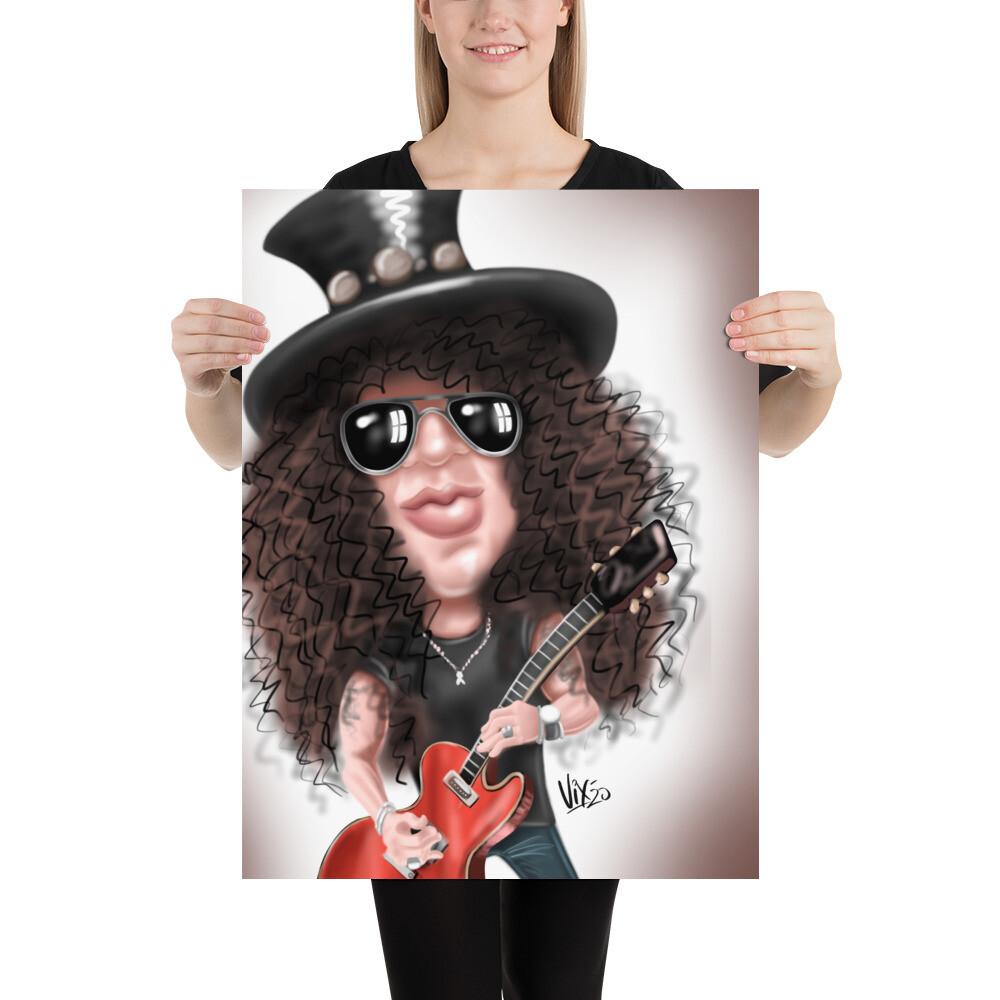 Slash - Guns and Roses - Caricature Premium Quality Poster Print