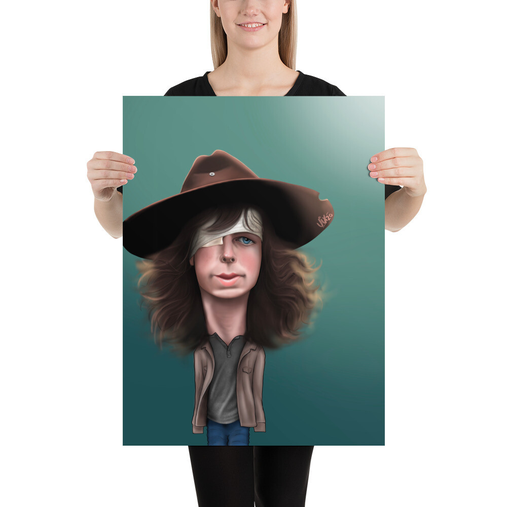 The Walking Dead / Carl - Chandler Riggs Caricature - Premium Quality Poster Print