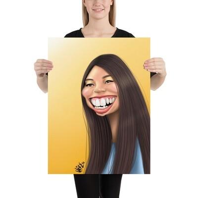 Awkwafina Caricature - Premium Quality Poster Print