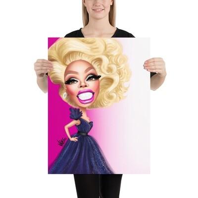 RuPaul Caricature - Premium Quality Poster Print