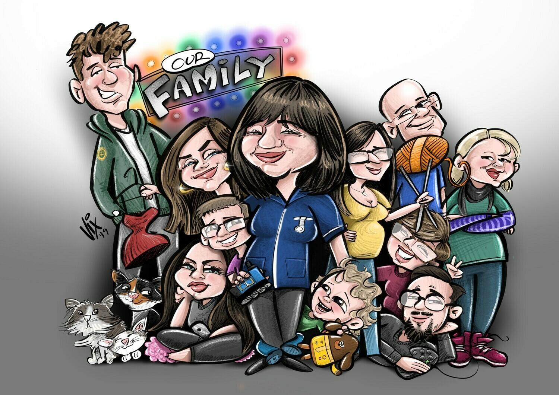 Caricature - 5+ People
