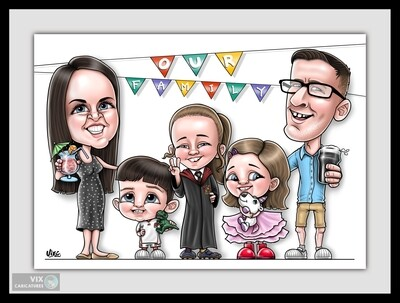Caricature - 5+ People