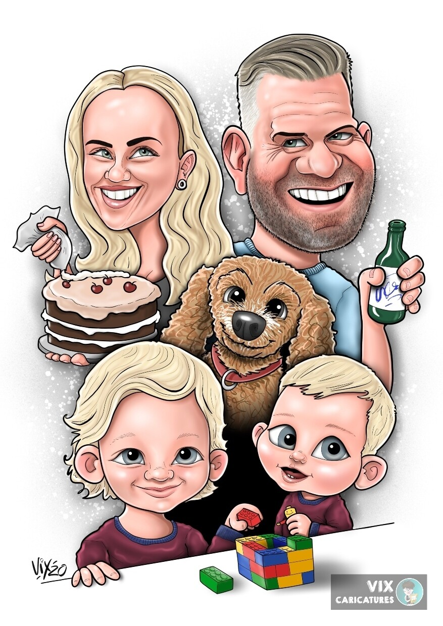 Caricature - 4 People