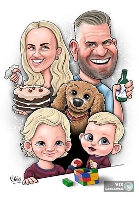 Caricature - 4 People
