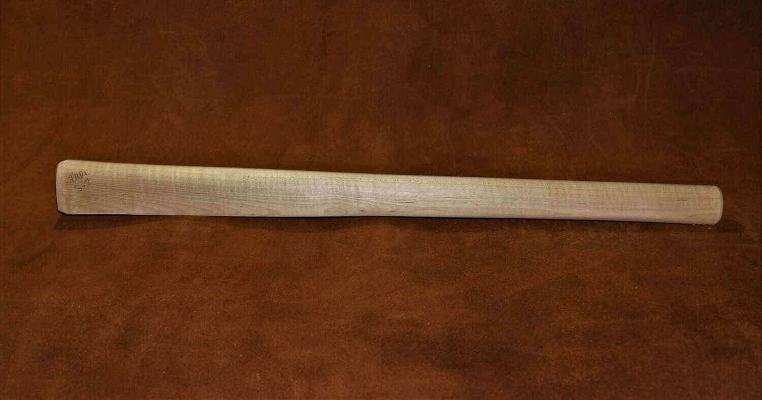 PIPE TOMAHAWK HANDLE drilled for smoking;  Sugar Maple  19