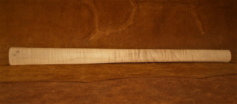 PIPE TOMAHAWK HANDLE;  Drilled for smoking;  Red Maple;  19