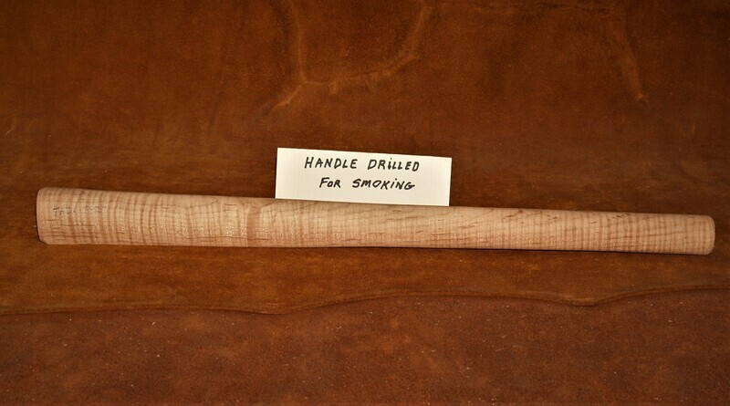 PIPE TOMAHAWK HANDLE;  Curly Red Maple;  19