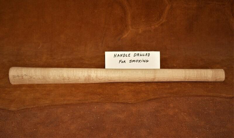 PIPE TOMAHAWK HANDLE;  Curly Sugar Maple;  19