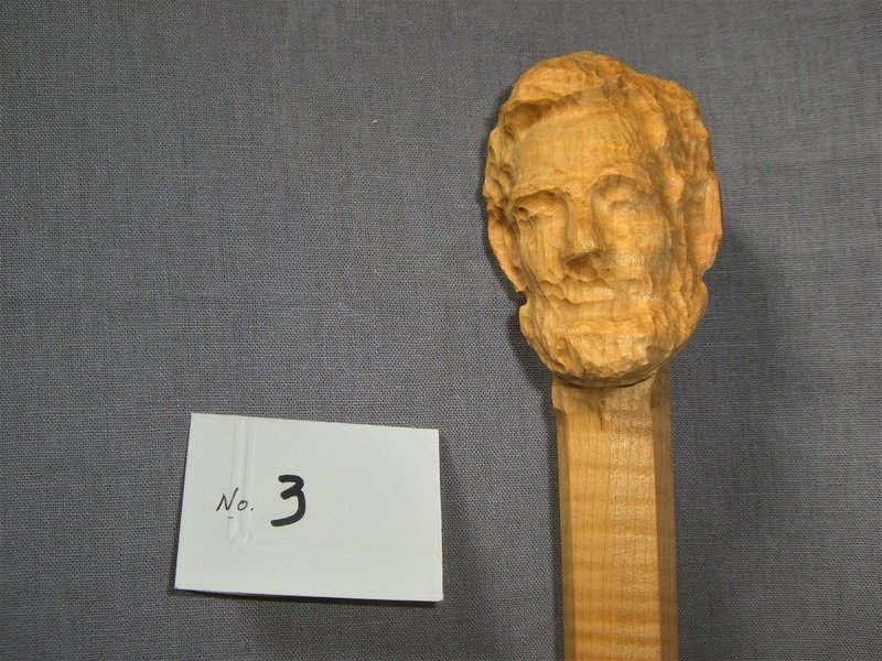 Curly Maple Abraham Lincoln Pre-carved Walking Stick 50