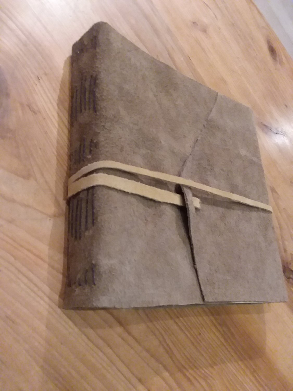 7x7 Leather Journal - Beige