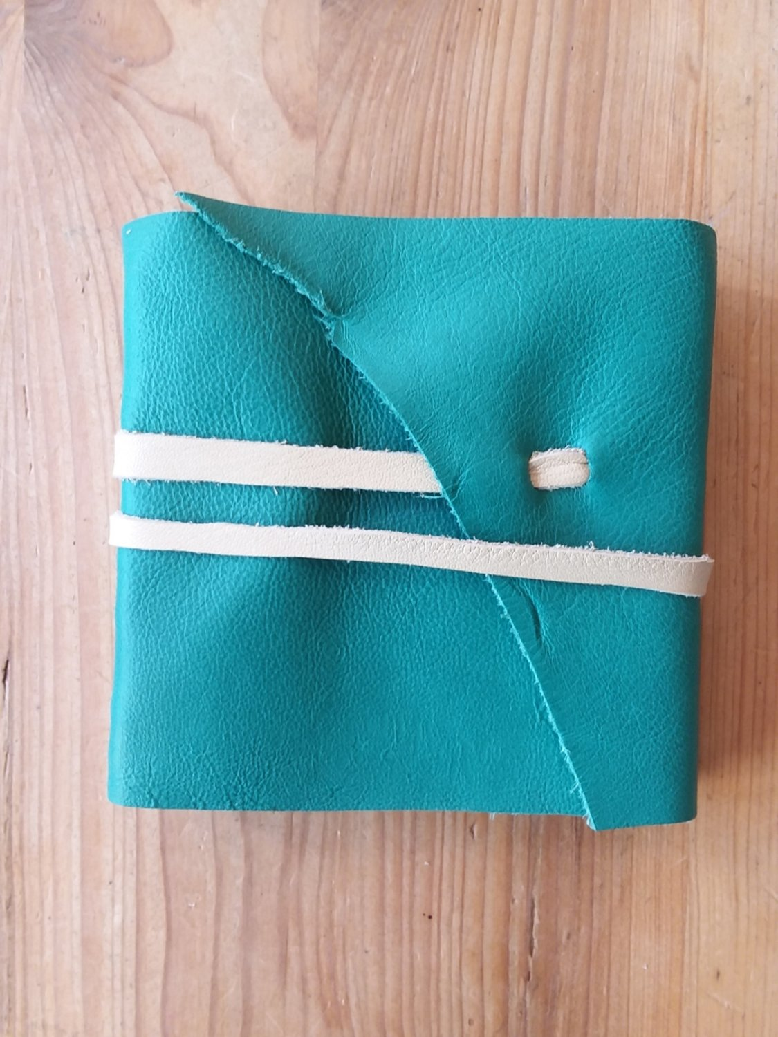 4x4 Leather Journal - Teal