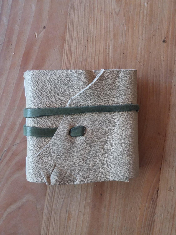 3x3 Leather Journal - Beige