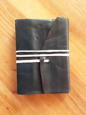 5x7 Leather Journal - Navy