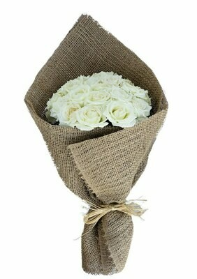 White roses Bouquet 30-150