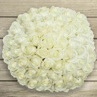 White roses Bouquet 50