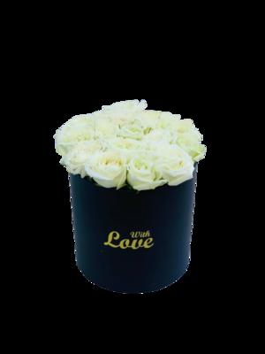 White roses black box