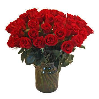 50 Roses in a vase L Lebanon