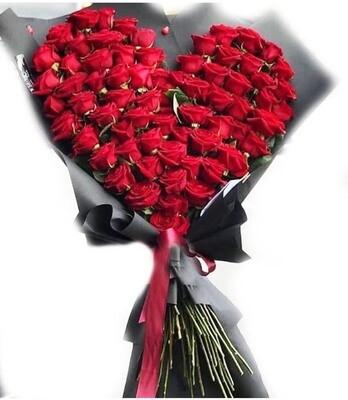 Big heart 200 roses Bouquet Lebanon