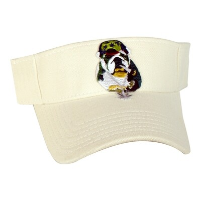 SC Splif Dog-Cotton Pique Knit Sun Visor