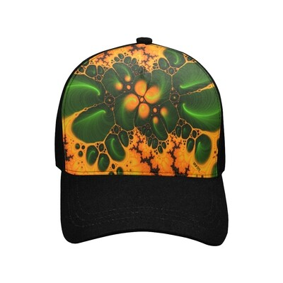 SC Abstraction orange-green Printed Baseball Cap