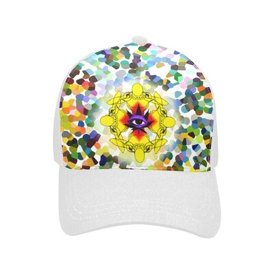 SC Higher Vision Printed Baseball Cap - white