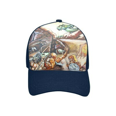 SC Slay The Dragon Printed Baseball Cap - blue