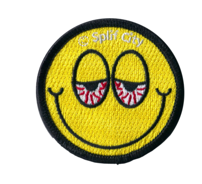 SC Blurred Eyed Emoji embroidered iron on patch