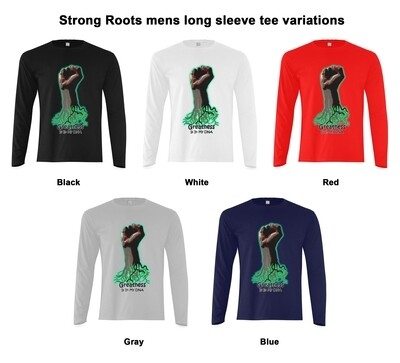 Strong Roots mens long sleeve tee