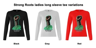 Strong Roots ladies long sleeve tee