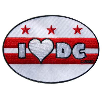 I Love DC embroidered iron on patch
